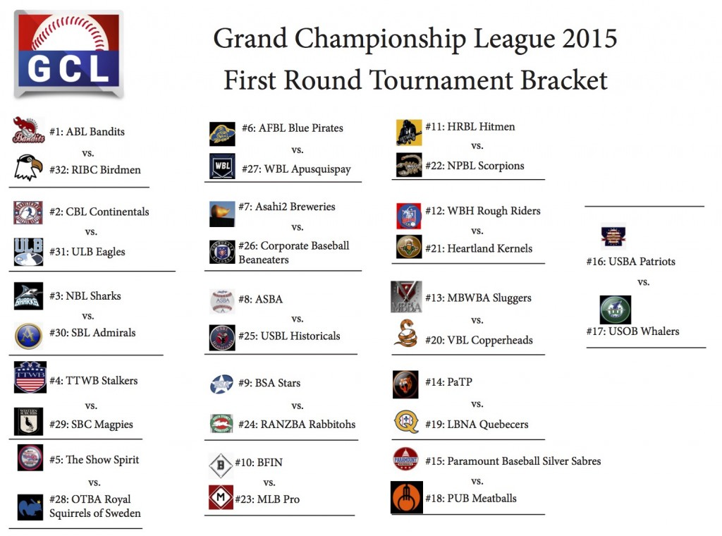 GCL Tournament Bracket Round 1
