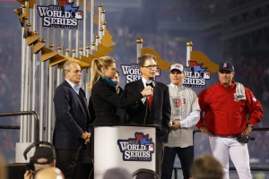 John Henry speaking after the Red Sox won the 2013 World Series. (Click to enlarge)