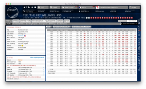 The Splendid Splinter in OOTP. (Click to enlarge)