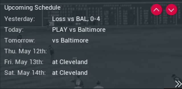 OOTP17 Top Right Menu